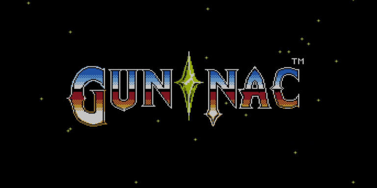Gun Nac Title Screen